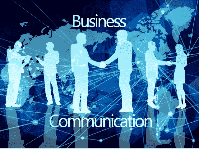 ビジネスマンがコミュニケーションをとっている絵
