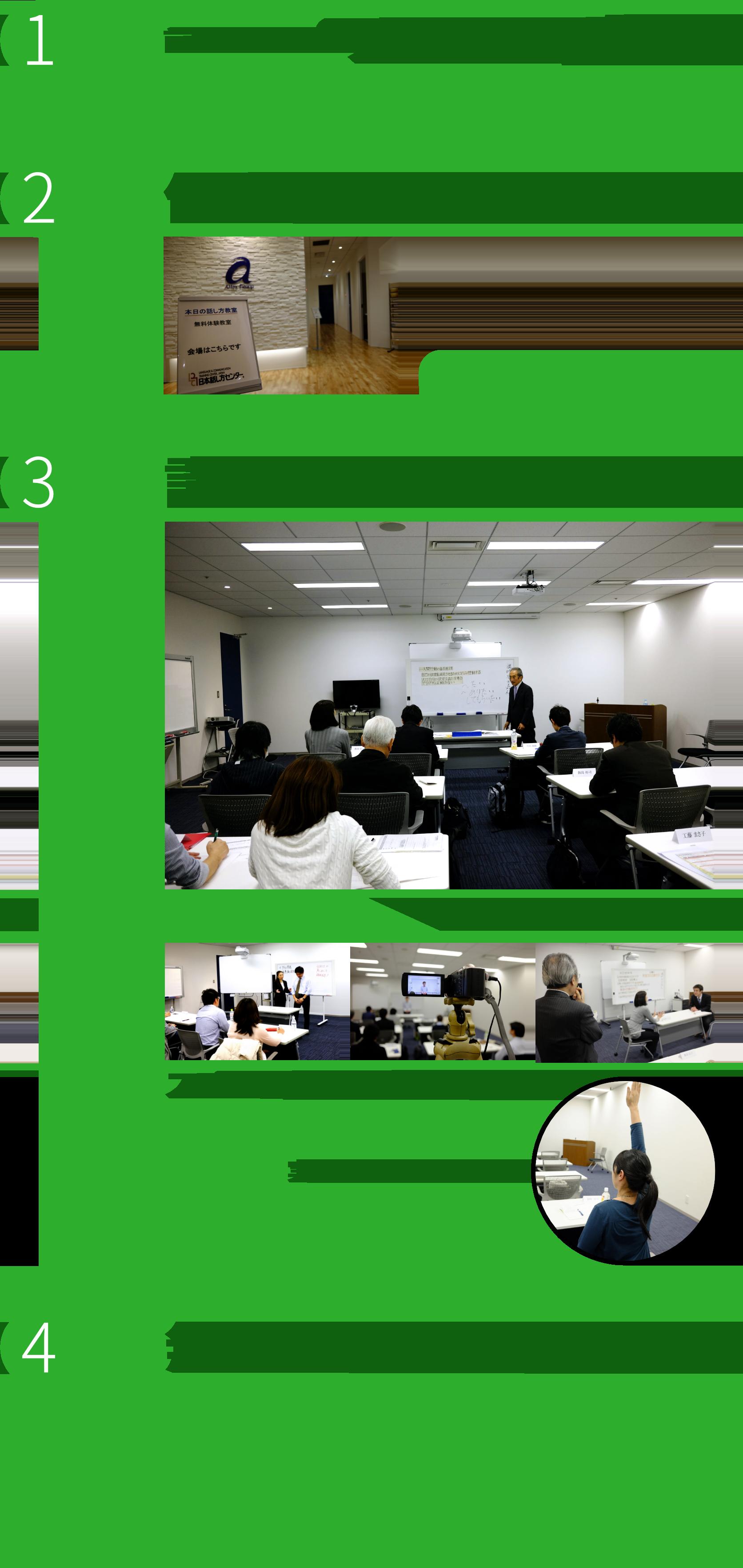無料体験教室の流れ